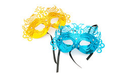 Ornate masks isolated on the white Royalty Free Stock Photos