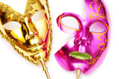 Ornate masks isolated on the white Royalty Free Stock Photography