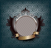 Ornate medallion - blue Royalty Free Stock Image