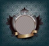Ornate medallion - blue Royalty Free Stock Image