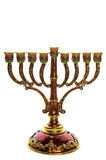 Ornate menorah on white Royalty Free Stock Image