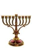 Ornate menorah on white Royalty Free Stock Image