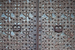 Ornate metal doors. Ornate metal door of  the St. Anne's Church, Vilnius Royalty Free Stock Image