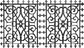 Ornate metal iron fence Stock Photos