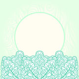 Ornate mint background. Mint lace ornate template card background Vector Illustration