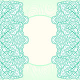 Ornate mint background. Mint lace ornate template card background Royalty Free Stock Photo