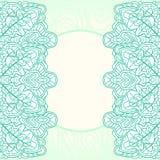Ornate mint background Royalty Free Stock Photo