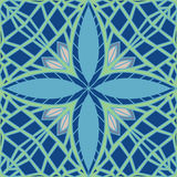Ornate Mint Pattern. Seamless ornate mint leaf pattern in cool winter colors Royalty Free Stock Image
