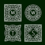 Ornate Monogram Frames. Ornate frames for monograms or other symbols in arabesque style. The letters are replaceable Royalty Free Stock Photography