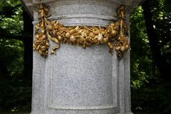 Ornate Monument with space for text Royalty Free Stock Images
