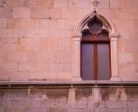 Moorish window split Croatia. Ornate Moorish window on a building  in split Croatia Royalty Free Stock Images