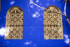 Ornate Moroccan windows Stock Photography