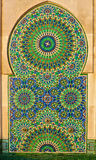 Ornate mosaic on a Moroccan mosque Royalty Free Stock Photo