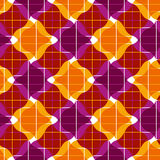 Ornate mosaic seamless pattern, geometric vector background. Royalty Free Stock Photo