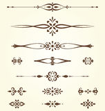 Ornate Motifs Set Royalty Free Stock Photos