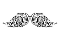 Ornate mustache shape for your design Stock Photos