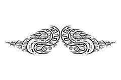 Ornate mustache shape for your design Stock Photo