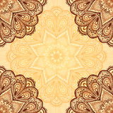 Ornate napkin vector background in henna colors Stock Photography