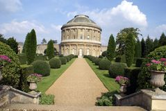 Ornate old circular architecture and garden Royalty Free Stock Photography