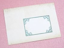 Ornate Old Envelope Royalty Free Stock Photo