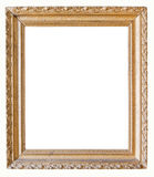 Ornate Old Gold Picture Frame. Isolated on white gold picture frame Royalty Free Stock Image