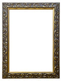 Ornate Old Gold Picture Frame. Isolated on white gold picture frame Stock Images