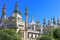 Ornate onion domes and minarets of Brighton regency palace the Royal Pavillion in East Sussex, England Stock Photo