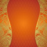 Ornate Orange Background Stock Images