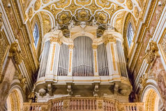 Ornate organ of the Church of San Luigi dei Francesi in Rome Royalty Free Stock Image