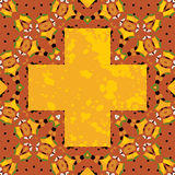 Ornate orient stylized mandala in the shape cross Royalty Free Stock Photos