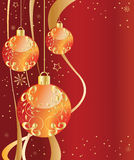 Ornate Ornaments red Royalty Free Stock Images
