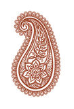 Ornate paisley with decorative flower and leaves. Mehendi vector Stock Images