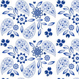 Ornate Paisley Pattern. Doodle Vector Design on White Royalty Free Stock Photo
