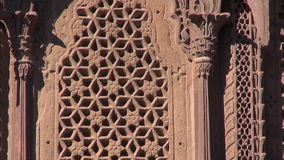 Ornate palace wall with Windows in Jodphur Meherangarh fort , India. Ornate palace wall with Windows in Jodphur Meherangarh fort ,Rajasthan, India stock footage
