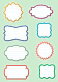 Ornate Paper Frames - Labels Royalty Free Stock Photography
