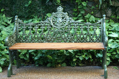 Ornate park bench Stock Photo