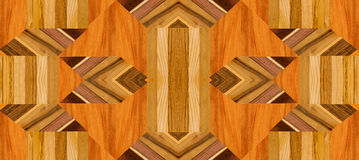 Ornate part of wooden floor Royalty Free Stock Photos