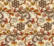 Ornate pattern in brown and yellow tones Stock Image