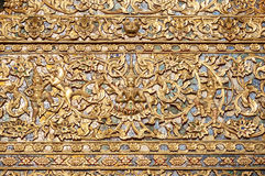 Ornate pattern on the exterior of Wat Suan Dok, Chiang Mai, Thailand Stock Photo