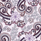 Ornate pattern in lilac and brown shades Royalty Free Stock Images