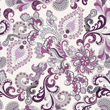 Ornate pattern in lilac and gray tones Stock Photo