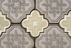 Ornate pavement Stock Images