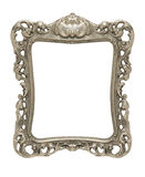 Ornate pewter picture frame silhouetted. An ornate pewter picture frame silhouetted against a white background Stock Images