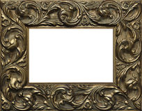 Ornate picture frame. Closeup of gilt covered wooden picture frame Royalty Free Stock Photos