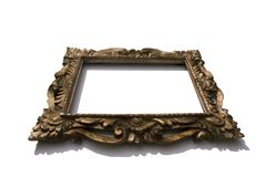 Ornate picture frame. A gold ornate picture frame Stock Image