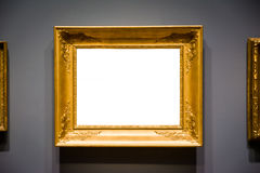 Ornate Picture Frame Art Gallery Museum Exhibit Interior White C Royalty Free Stock Photos