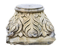 Ornate pillar base Stock Images