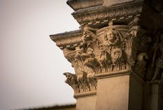 Ornate pillar cathedral in Siena Royalty Free Stock Photography