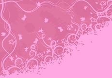 Ornate pink background Royalty Free Stock Images