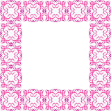 Ornate Pink Border Stock Images